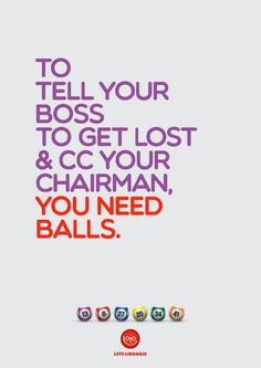 Lotto Balls ad. Funny. [Marketing, Advertising, Print Advertisement] #NerdMentor
