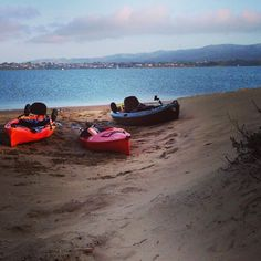 Kayaking to the sandspit in Morro Bay