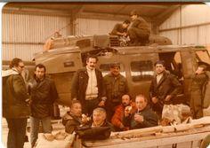 UH-1H del EA y adelante grupo de radioaficionados de la ROA