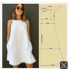 Ideas dress pattern sewing women for 2019 Diy Clothing, Sewing Clothes, Clothing Patterns, Easy Sewing Patterns, Sewing Tutorials, Sewing Tips, Sewing Projects, Sewing Hacks, Dress Tutorials
