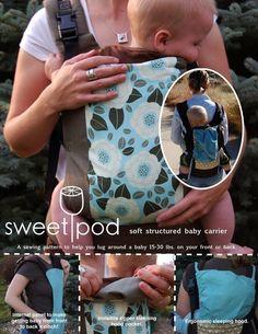 Patrón de costura de SweetPod bebé portador PDF por seedpod en Etsy