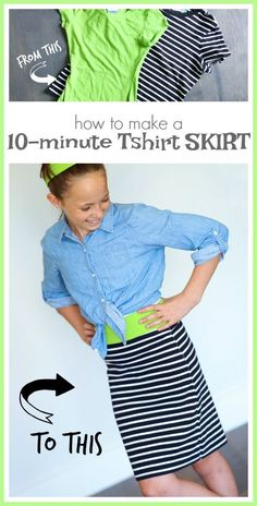 how to make a 10 minute T-Shirt Skirt - super simple sewing project!! - - Sugar Bee Crafts