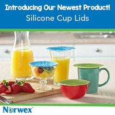 Insulate your drinks with an airtight seal to keep your coffee and tea hot, and your soft drinks cold, for longer. Makes a convenient cover for small bowls, too. Works on stainless steel, glass, plastic or ceramic containers with smooth rims. BPA-free.#Norwex2015