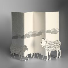 PORIGAMI - YEAR OF THE SHEEP from FESTIVITIES collection - pop-up greeting card made of FSC certified graphic papers, 15x11 cm when folded, hand assembled