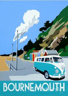 Bournemouth Beach Huts. Original painting and prints by Richard Watkin. www.watkinart.co.uk