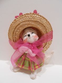 """2002 Annalee 7"""" Flower Girl Flora Mouse Doll Macys Exclusive 982702 #Annalee #DollswithClothingAccessories"""