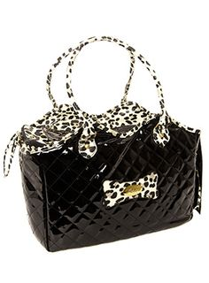 Patent Black Pet Carrier | Image 1 | Yorkie Clothes from Yorkies Only