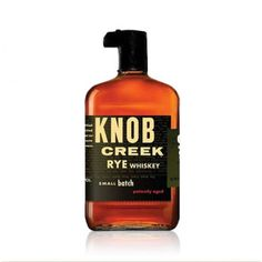 Knob Creek Small Batch Rye Whiskey.Some of the best things in life are the simplest.  spiritedgifts.com