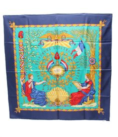 Hermes Scarf Shawl 100% Silk Carre90 LIBERTE EGALITE 1789 NWT Auth #Hermes #Scarf