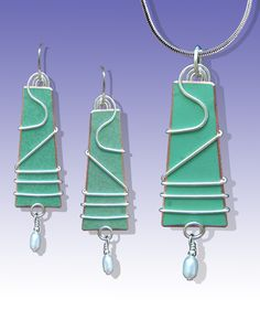 Saraband earrings and pendant by Scott Lesh (www.LeDanse.com)