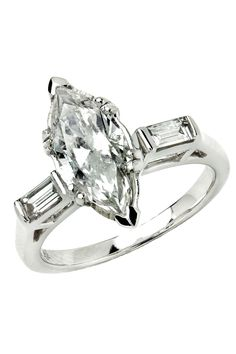 Sizable 1.9ct Diamond and 14K White Gold Engagement Ring