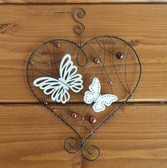 Závěsná dekorace srdce Wire Art, Wire Wrapping, Dream Catcher, Macrame, Diy And Crafts, Creations, Wraps, Inspiration, Spring