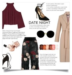 """""""DATE NIGHT"""" by collinsangelface110 ❤ liked on Polyvore featuring W118 by Walter Baker, Ganni, Whistles, Gianvito Rossi, Miu Miu, NYX, date and polyvoreeditotial"""