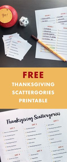 Thanksgiving Printable Games