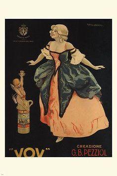 VOV vintage AD poster GIUSEPPE CAPPADONIA italy 1900 24X36 singular GEM