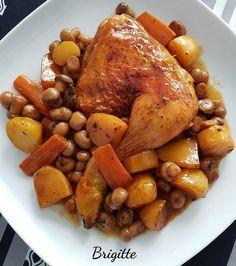 Une délicieuse recette cookeo :Cuisses de poulet moutarde et Paprika et son accompagnement a faire au cookeo