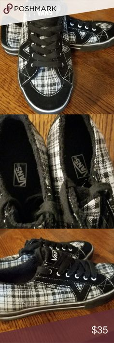 EUC Black and White Plaid Vans Shoes Size 10 EUC Black and White Plaid Vans Shoes Size 10 . These were worn less than a handful of times  They are in excellent condition. vans Shoes Sneakers
