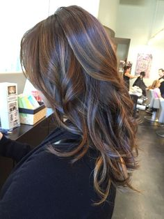 Chestnut brown with caramel somber highlights