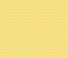 chevron no2 yellow and white fabric by misstiina on Spoonflower - custom fabric