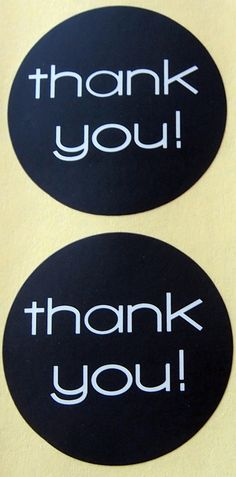 36 Thank You Labels Stickers Kraft Favour by ForSpecialOccasions