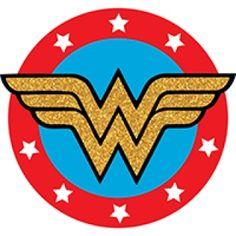 Fiesta Wonder Woman Fan Art, Wonder Woman Logo, Wonder Woman Birthday, Wonder Woman Party, Dragon Birthday Parties, Superhero Birthday Party, Birthday Ideas, Cupcake Illustration, Hero Girl