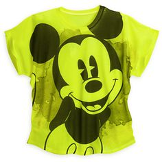 Mickey Mouse Neon Tee for Women
