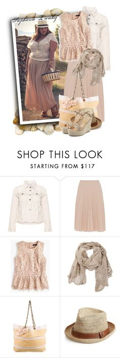 """""""Nude Wool Blend Skirt With Graduated Pleats"""" by tasha1973 ❤ liked on Polyvore featuring Carmakoma, Piazza Sempione, J.Crew, Faliero Sarti, Lanvin, Melissa Odabash and Sergio Rossi"""