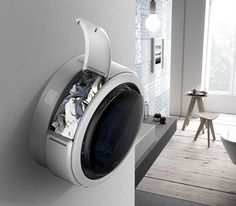 Quinque Washer Features 5 Laundry Baskets to Wash Your Laundry Individually Living in a share Mini Washer And Dryer, New Electronic Gadgets, Electronic Gifts, Electronics Gadgets, Smart Home Appliances, Showroom Interior Design, Yanko Design, Cool Inventions, Machine Design