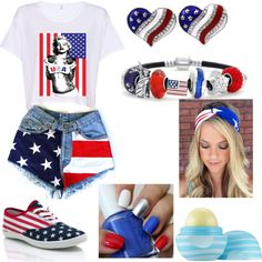 Forth of July outfit by domanique-j on Polyvore featuring polyvore fashion style Bling Jewelry Eos