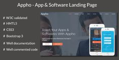 Appho - App and Software Landing Page #App, #AppLanding, #AppPage, #Helaldesign, #Html5Page, #Landing, #LandingPage, #ResponsiveLandingPage, #ResponsivePage, #SoftwareLandingPage, #SoftwarePage http://goo.gl/45URzS