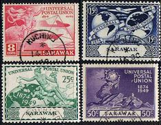 Sarawak Stamps 1949 Universal Postal Union Set Fine Used