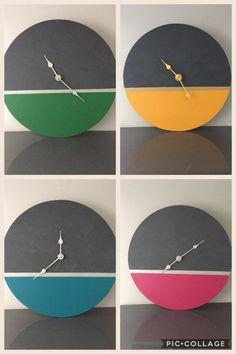 Wall Clock Wooden, Metal Clock, Wood Clocks, Wood Projects, Woodworking Projects, Wall Clock Design, Diy Clock, Diy Art, Concrete