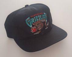 Vintage Vancouver Grizzlies Starter Snapback Hat NBA VTG by StreetwearAndVintage on Etsy Team Shirts, Chicago Bulls, Snapback Hats, Nhl, Vintage Shops, Vancouver, Baseball Hats, Logo, Outfit