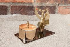 Postal Letter Scale and Stamp Dispenser #NEW in the #LovelyLittleSongbird #Etsy #Shop // $21.00 @Sam Taylor Leigh // Lovely Little Songbird shop.lovelylittlesongbird.com #brass #tin #post #snailmail #mail #weight #letter