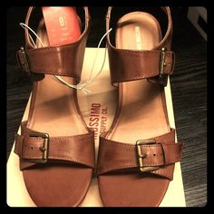 Cognac wedges Brand new! Never out of box! Tags still on! Gorgeous! Perfect cognac wedges! Mossimo Supply Co Shoes Wedges
