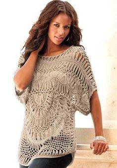 The Crochet Openwork Sweater   Plus Size Sweaters   Roamans