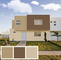Ideas exterior de casas pintura for 2019 Exterior Siding Colors, House Exterior Color Schemes, Diy Exterior, House Paint Exterior, Building Exterior, Modern Exterior, Exterior Design, Interior Paint Colors For Living Room, Paint Colors For Home