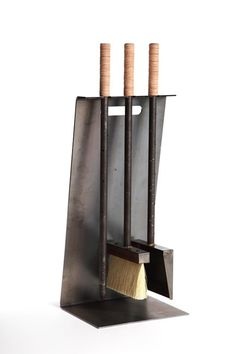 Thursday, August Design Within Reach in Scottsdale, AZ is hosting the Designing Arizona evening Our submission, the modern fireplace set, was selected to compete! Modern Fireplace Tools, Fireplace Tool Set, Stove Fireplace, Fireplace Design, Fireplace Mantels, Mantles, Fireplace Ideas, Fireplace Accessories, Home Accessories