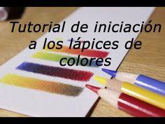 Iniciación a los lápices de colores (cómo mezclar y hacer degradados) - YouTube