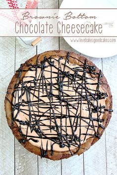 Brownie Bottom Chocolate Cheesecake - chocolate, chocolate and more chocolate! Not for the faint of heart! #chocolate #brownie #cheesecake