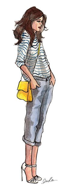 "Great styling with these fun illustrations found in ""The Sketch Book"" of Inslee. Click image to see more."