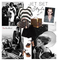 """Jet Set Style With DJ Mia Moretti & The RealReal: Contest Entry"" by barngirl ❤ liked on Polyvore featuring GUESS by Marciano, Chanel, Louis Vuitton, Miu Miu, rag & bone, Yves Saint Laurent, modern and vintage"