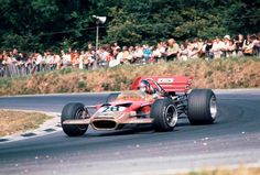 Emerson Fittipaldi, Lotus 49C, rounding Druids on his Formula One début, Brands Hatch 1970.