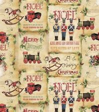 Susan Winget Vintage Toy Shop Patch Christmas Cotton Fabric ~ by the YARD
