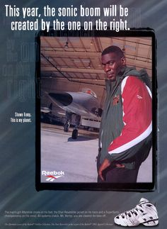 Reebok Aftershock Ad with Shawn Kemp I Love Basketball, Basketball Posters, Basketball Teams, Vintage Advertisements, Vintage Ads, Tim Hardaway, Look At This Photograph, Nba Pictures, Shoes Ads