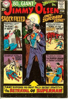 Superman's Pal Jimmy Olsen ( Lot of 4 Comics ) Issue #'s 111,113(80pg Giant),114,115 (1968) FN-VF Please check out the high resolution scans before purchasing this comic(s). Grading is very subjective. If you disagree with our grade please let us know for no question asked return instructions. (I'll even pay the return postage) Thank You