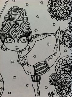 YoGa Zentangle style Coloring Book for you to by ChubbyMermaid, $12.00