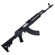 Century Arms Zastava N-PAP AK-47 Semi Auto Rifle 7.62x39mm 16 Barrel Stamped Receiver 30 Round Magazine Black Polymer Tapco T6 Collapsible S...
