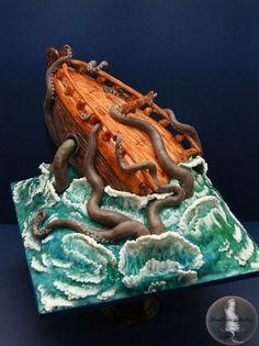 Release the Kraken!  Cake by MadHouseBakes