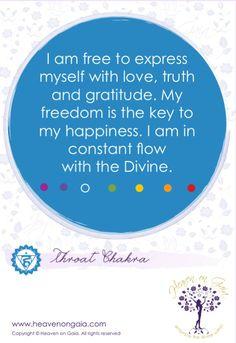 Divine Spark: #Affirmation for the #Throat #Chakra.